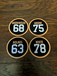 Pittsburgh Steelers Steel Curtain Magnets - White, Greenwood, Holmes, Greene