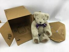 """The Vermont Teddy Bear Co. Beige Bear 16"""" Jointed Purple Box & Game Box"""