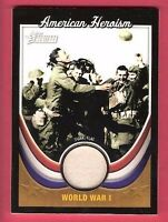 WORLD WAR I WW1 USED SIGNAL FLAG RELIC CARD 2009 TOPPS HERITAGE AMERICAN HEROISM