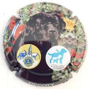 capsule de champagne Lions Club n°67 chien d'Aveugles. Rare.