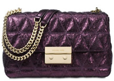 NWT Michael Kors Damson Quilted Leather Sloan Large Chain Shoulder Bag MSRP $348