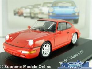 PORSCHE 911 CARRERA 4 CAR MODEL 1991 RED 1:43 SIZE IXO ATLAS COLLECTION SPORTS T
