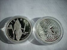 1 OZ .999 silver Proof Jeanne Hatchet Tyrannicide Sovereign coin Girl Power Rare