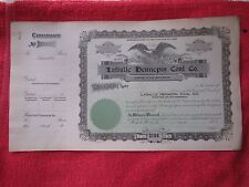 EARLY 1900's LaSALLE HENNEPIN ILLINOIS COAL MINING COMPANY STOCK CERTIFICATE