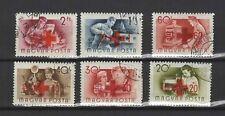 Croix-Rouge métiers Hongrie 1957 une série de 6 timbres / T1636