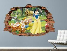 Disney Princess Snow White & Dwarf Custom Wall Decals 3D Wall Stickers Art AH312
