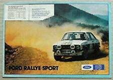 FORD RALLYE SPORT RS MEXICO RS 2000 Sales Brochure 1977-78 #FP342 SERIES X KITS