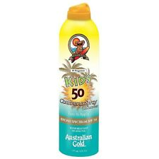 Australian Gold Kids Continuous Spray Sunscreen SPF 50 6 oz (Pack of 5)