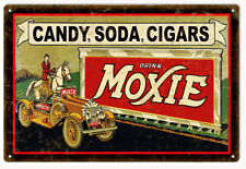 Moxie Soda Pop Drink Reproduction Nostalgic Metal Sign - 18 x 30 In RVG128