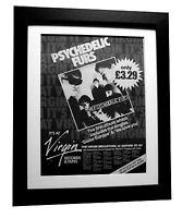 PSYCHEDELIC FURS+Debut LP+POSTER+AD+RARE+ORIGINAL+1980+FRAMED+FAST GLOBAL SHIP
