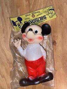 Vintage 60s Mickey Mouse Squeak Toy Playbaby Holland Hall, Stamford CT.  Walt Di