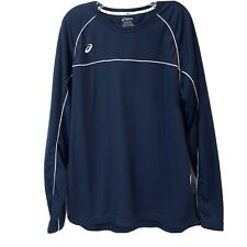 ASICS Men XL Conform Long Sleeve Jersey  Athletic Tops Navy Blue T- Shirt.
