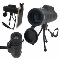 40X60 Monocular Telescope HD Night Vision BAK4Prism Scope with Phone Clip Tripod
