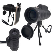 40X60 Monocular Telescope HD Night Vision BAK4Prism Scope with Phone Clip Tripod
