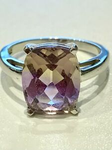 Anahi Ametrine Solitaire Ring / 4.70ct / Size N/O / Certificate
