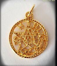 Tetragrammaton pentagrama esotérico silver goldTalisman amuleto plata y oro 24k