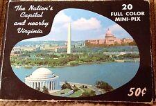 Vintage 1962 Capsco 19 Color Mini Views Washington DC Nations Capital & Virginia