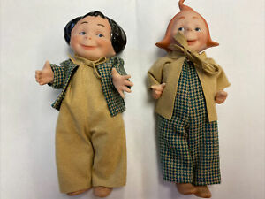 """Max and Moritz Dolls 5"""" Repro Jointed UFDC 2002 Signed By Pat Black"""