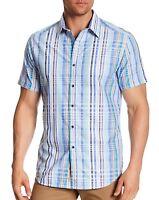 Robert Graham Men's Short Sleeve Aero Theater Plaid Shirt Classic Fit Medium