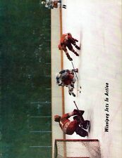 1978 Winnipeg Jets Home vs Indianapolis Racers WHA World Hockey Assn Program