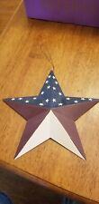 Rustic primitive metal Americana red, white, and blue Wall Hanger