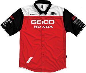 100% Geico Honda Blitz Pit Shirt  Mens