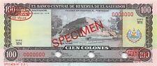 El Salvador  100  Colones  15.10.1974  P 122as  Series MN  Uncirculated Banknote