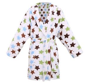 Kids Boys Warm Winter Beach Cover Up Bath Shower Robe Sleepwear