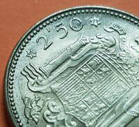 @ESTRELLA TRUCADA@ 2,50 PESETAS 1953 * 19/71 moneda de Latón España FRANCO 1971