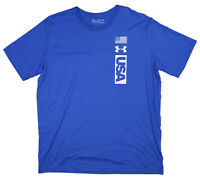 Under Armour Heat Gear Athletic USA Crew Neck Short Sleeve T-Shirt XXL NWT Blue