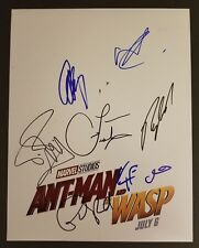 ANT-MAN and the WASP Cast(x8) Authentic Hand-Signed PAUL RUDD 11x14 Photo