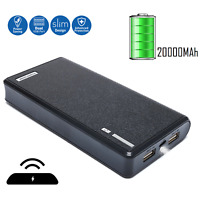 20000mAh 2A Portable Phone Charger External Backup Battery Dual USB Power Bank