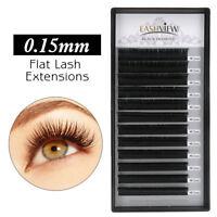 Lashview Flat Eyelash Extensions .15mm C D  Application-friendly Lashes Pro Use