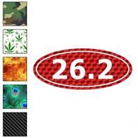 Marathon 26.2 Decal Sticker Choose Pattern + Size #444