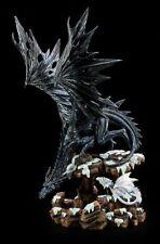 Drachen Figur - Dragons Wisdom - Schnee - Statue Fantasy Dragon Deko
