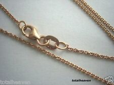 """Italian Solid 14K Pink Rose Gold 18"""" Cable Link Chain 2g"""