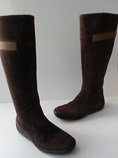 TIMBERLAND WATERPROOF SMARTWOOL BROWN SUEDE LEATHER BOOTS WOMEN SIZE US 7M NICE