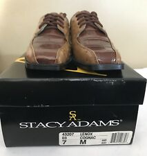 New With Box Stacy Adams Lenox Cognac Little Boys Oxford's Shoes Size  7 M