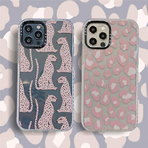 Leopard Print Back TPU Phone Case For iPhone 11 12 Pro Max  7 8 + SE XS XR Cover