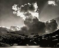 1934/72 Vintage ANSEL ADAMS Sierra Mountain Cloud Lake Landscape Photo Art 11X14