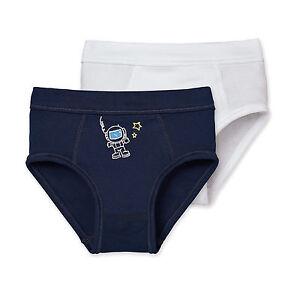 Schiesser Boys Sports Briefs 2er Pack Astronaut Size 104-140 100% Co Underwear