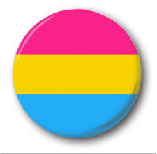 "PANSEXUAL FLAG - 25mm 1"" Button Badge - Cute Novelty LGBT Trans"