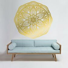 New ListingLeaf Mandala Large Decal Wall Removable Sticker Room Décor Modern Gold Fitness
