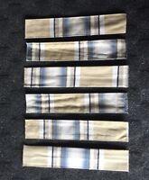 Set of 6 Fleetwood Decorative Curtain Tie Back Straps - Plaid