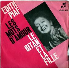 PIAF EDITH LES MOTS D'AMOUR / LE GITAN ET LA FILLE 45 GIRI 1962 ITALY