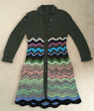 Handmade crochet semi-wool women's coat, Aklamena
