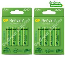 8 x GP Recyko+ AA 2000 mAh Stay Charged Rechargeable Batteries NiMH HR6 LR6