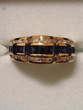 Vintage14kt Gold  Blue Saphire with Diamonds Ladies Ring