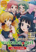 WAKABA GIRL わかば*ガール VOL. 1-13 END JAPANESE ANIME DVD + FREE SHIPPING