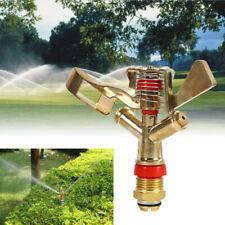 Brass 360° Impact Sprinkler Adjustable Spray Nozzle For Garden Water Irrigation